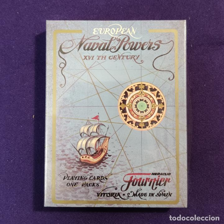 BARAJA FOURNIER DE POKER. EUROPEAN NAVAL POWER. POTENCIAS NAVALES EUROPEAS. PRECINTADA. (Juguetes y Juegos - Cartas y Naipes - Barajas de Póker)