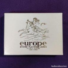 Barajas de cartas: BARAJA FOURNIER DE POKER. EUROPE. EUROPA. T.MICIANO. SIN USAR. 1968.. Lote 194491555