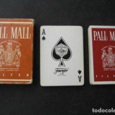 Barajas de cartas: BARAJA POKER FOURNIER. PUBLICIDAD TABACO CIGARRILLOS PALL MALL. Lote 194491566