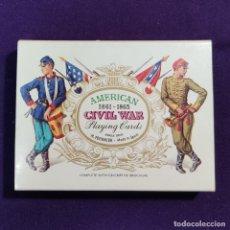 Barajas de cartas: BARAJA FOURNIER DE POKER. AMERICAN CIVIL WAR. GUERRA CIVIL AMERICANA. T.MICIANO. SIN USAR. 1981.. Lote 194491878