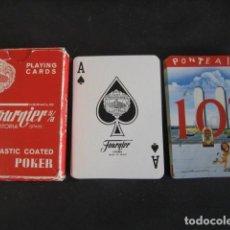 Barajas de cartas: BARAJA POKER FOURNIER. PUBLICIDAD COÑAC BRANDY RON 103. Lote 194491981