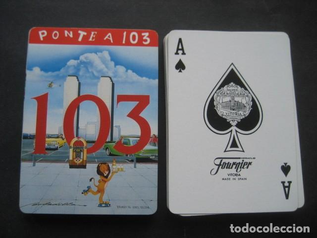 Barajas de cartas: BARAJA POKER FOURNIER. PUBLICIDAD COÑAC BRANDY RON 103 - Foto 2 - 194491981