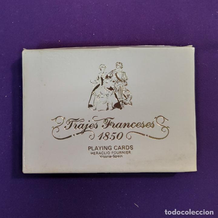 BARAJA FOURNIER DE POKER. TRAJES FRANCESES 1850. CON TIMBRE. SIN USAR. 1975. (Juguetes y Juegos - Cartas y Naipes - Barajas de Póker)