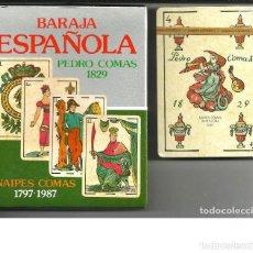 Barajas de cartas: BARAJA ESPAÑOLA PEDRO COMAS 1829 - ANIVERSARIO 1797-1987 - PRECINTADA. Lote 194495798