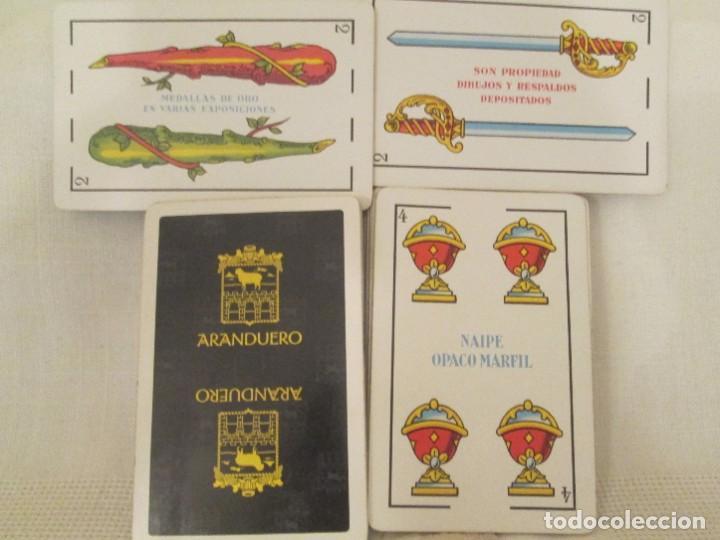 Barajas de cartas: Dos mazos completos de cartas baraja española Heraclio Fournier, publicidad Asador Aranduero - Foto 2 - 194497751