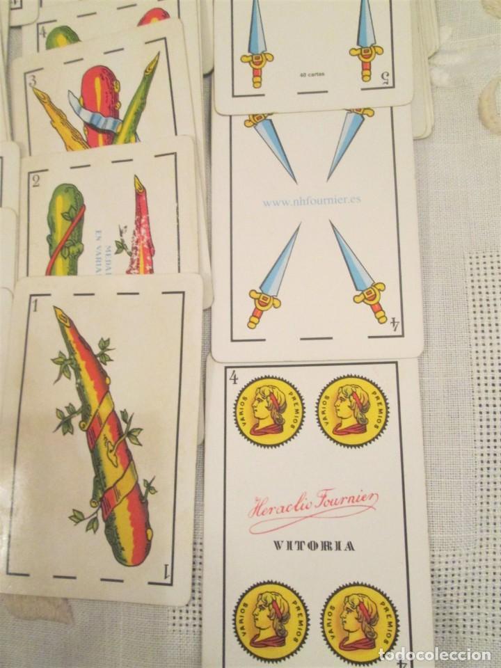 Barajas de cartas: Dos mazos completos de cartas baraja española Heraclio Fournier, publicidad Asador Aranduero - Foto 4 - 194497751