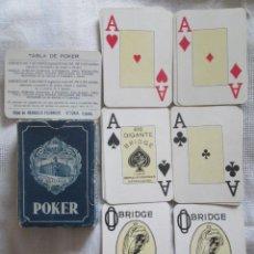 Barajas de cartas: JUEGO DE BARAJAS DE PÓKER COMPLETA, MARCA HIJOS DE ERACLIO FOURNIER, PUBLICIDAD DE BANDEIRA AVE MARÍ. Lote 194501451