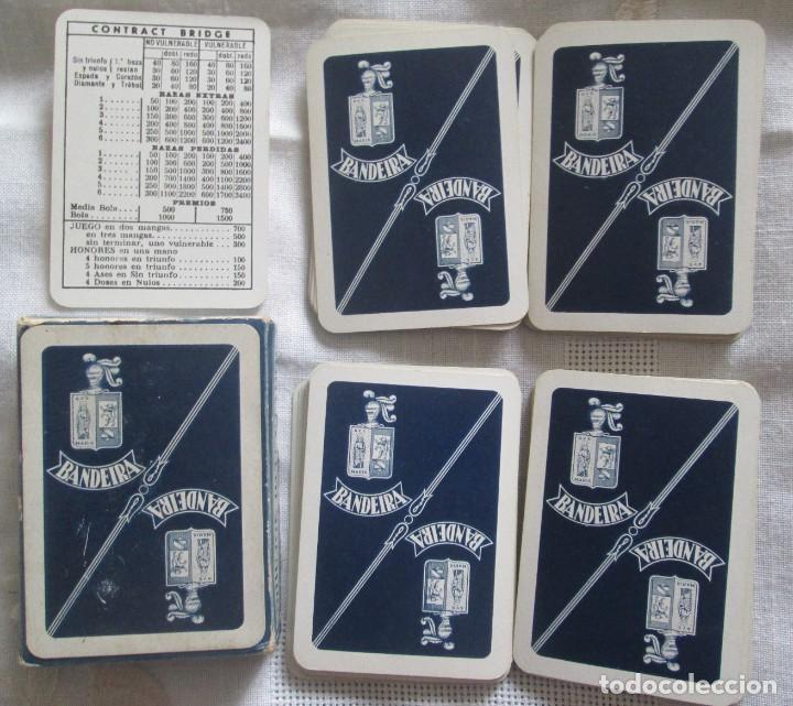 Barajas de cartas: Juego de barajas de póker completa, marca Hijos de Eraclio Fournier, publicidad de BANDEIRA Ave Marí - Foto 2 - 194501451