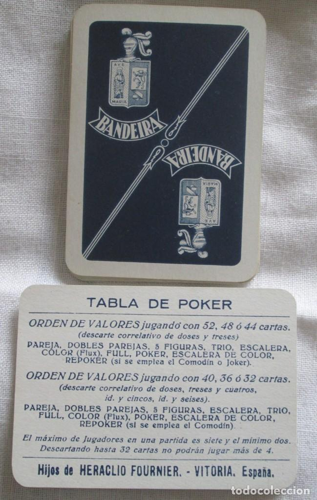 Barajas de cartas: Juego de barajas de póker completa, marca Hijos de Eraclio Fournier, publicidad de BANDEIRA Ave Marí - Foto 3 - 194501451