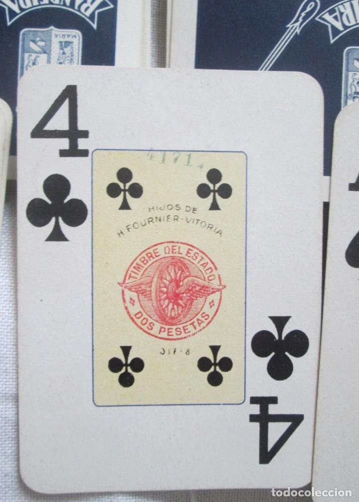 Barajas de cartas: Juego de barajas de póker completa, marca Hijos de Eraclio Fournier, publicidad de BANDEIRA Ave Marí - Foto 4 - 194501451