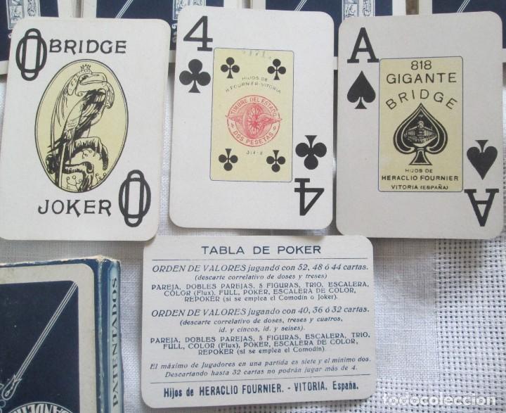 Barajas de cartas: Juego de barajas de póker completa, marca Hijos de Eraclio Fournier, publicidad de BANDEIRA Ave Marí - Foto 5 - 194501451