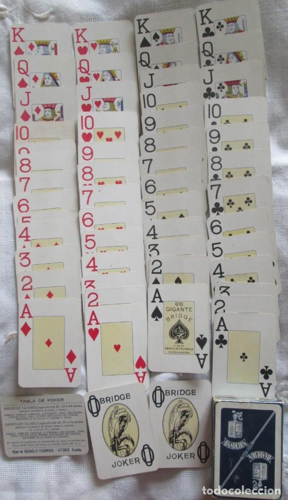 Barajas de cartas: Juego de barajas de póker completa, marca Hijos de Eraclio Fournier, publicidad de BANDEIRA Ave Marí - Foto 6 - 194501451