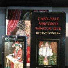Barajas de cartas: GIGANTE TAROT. CARY-YALE.VISCONTI.TAROCCHI DECK.. Lote 194507575