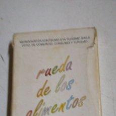 Barajas de cartas: RUEDA DE ALIMENTOS. Lote 194530473