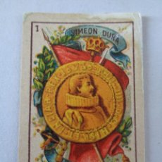 Barajas de cartas: BARAJA SIMEON DURA, PEQUEÑA , NEOCLASICA ,COMPLETA, 40 CARTAS, REVERSO AZUL , ANTIGUA, ORIGINAL. Lote 194596922