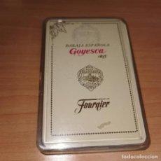 Barajas de cartas: BARAJA DE CARTAS ESPAÑOLA - GOYESCA / TAPICERIAS GANCEDO - EDITOR, H. FOURNIER VITORIA. Lote 194607430