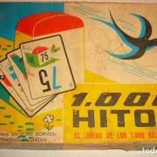 Barajas de cartas: JUEGO DE LOS 1000 HITOS. Lote 194629873