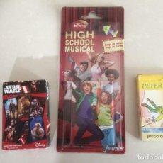 Barajas de cartas: BARAJAS DE CARTAS: HIGH SCHOOL MUSICAL - PETER PAN Y STAR WARS. Lote 194677573