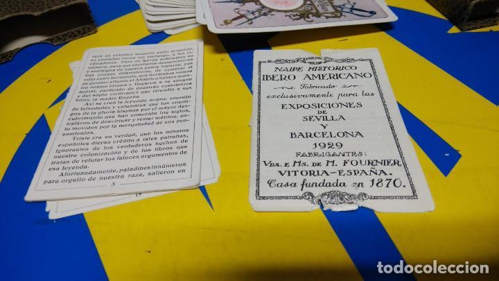 Barajas de cartas: BARAJA FOURNIER. NAIPE HISTORICO IBERO AMERICANO. original 1929 relieve NAIPE VASCO - Foto 3 - 194698495