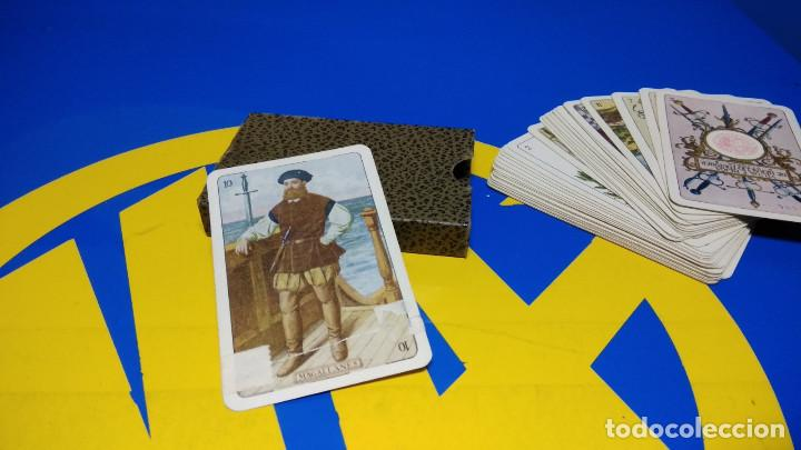 Barajas de cartas: BARAJA FOURNIER. NAIPE HISTORICO IBERO AMERICANO. original 1929 relieve NAIPE VASCO - Foto 4 - 194698495
