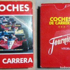 Barajas de cartas: BARAJA CARTAS COCHES DE CARRERA HERACLIO FOURNIER . Lote 194745775
