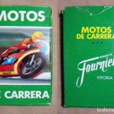Barajas de cartas: BARAJA CARTAS MOTOS DE CARRERA HERACLIO FOURNIER. Lote 194745890