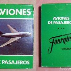 Barajas de cartas: BARAJA CARTAS AVIONES DE PASAJEROS HERACLIO FOURNIER. Lote 194745973