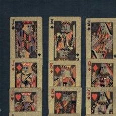 Barajas de cartas: BARAJA DE POKER S.P. EN LUJO ORO IMPERMEABLE. Lote 194750525