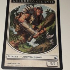 Barajas de cartas: CARTA MAGIC THE GATHERING GUERRERO GIGANTE . Lote 194788872