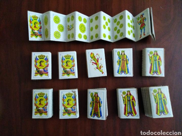 LOTE DE 11 MINI BARAJAS DE 48 NAIPES TROQUELADOS AÑOS 70 ( TAMAÑO 6X4 CM ) (Juguetes y Juegos - Cartas y Naipes - Baraja Española)