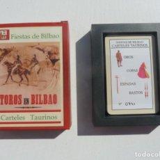 Barajas de cartas: BARAJA CARTAS FIESTAS DE BILBAO, TOROS EN BILBAO, CARTELES TAURINOS, CARTAS PRECINTADAS. Lote 194956130