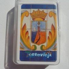 Barajas de cartas: RARA BARAJA DE 50 CARTAS, OROS,COPAS,ESPADAS Y BASTOS. SOBRE TORREVIEJA CULTURAL Y PAISAJES. Lote 194957497