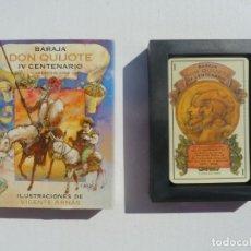 Barajas de cartas: BARAJA CARTAS DON QUIJOTE IV CENTENARIO, ILUST FERN. ARNÁS. MAESTROS NAIPEROS ESPAÑOLES. PRECINTADA. Lote 194958730