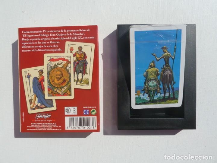Barajas de cartas: BARAJA CARTAS PRECINTADA EL QUIJOTE, IV CENTENARIO, FOURNIER - Foto 2 - 194959627