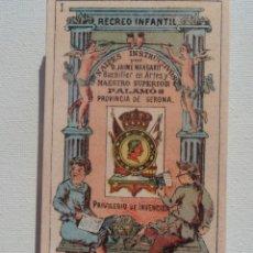 Barajas de cartas: BARAJA RECREO INFANTIL, NAIPES INSTRUCTIVOS, PALAMÓS, AÑO 2009. Lote 194990476