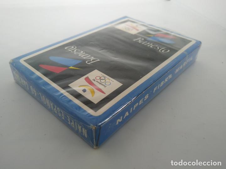 Barajas de cartas: Baraja de Cartas - Banesto / Barcelona 92 - Naipes Fibra Marfil nuevo sin abrir - Foto 2 - 195009781
