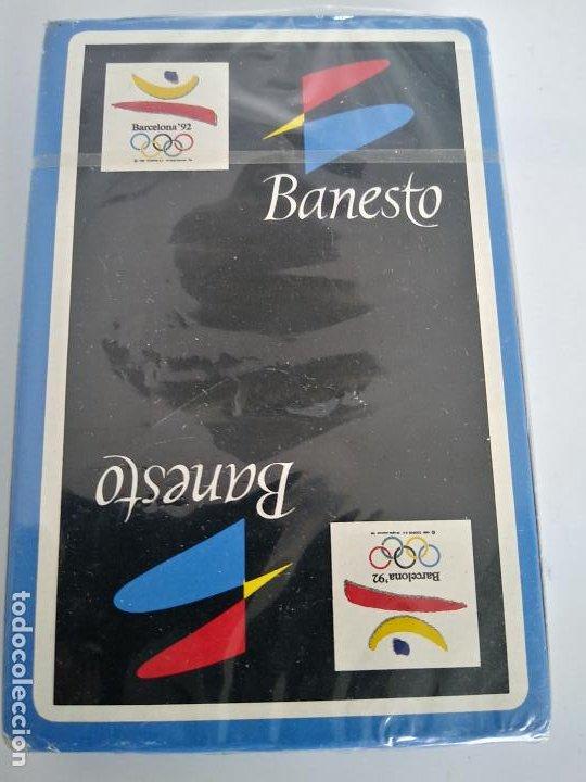 BARAJA DE CARTAS - BANESTO / BARCELONA '92 - NAIPES FIBRA MARFIL NUEVO SIN ABRIR (Juguetes y Juegos - Cartas y Naipes - Baraja Española)