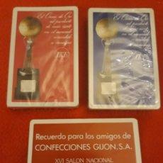 Barajas de cartas: -76821 2 BARAJAS DE CARTAS CAMISAS IKE, EL OSCAR DE ORO, BARCELONA 1976. Lote 195009972