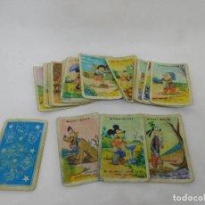 Barajas de cartas: M69 BARAJA DE CARTAS DESFILE DISNEY. FOURNIER. 1957. REVERSO AZUL. INCOMPLETA.. Lote 195043608