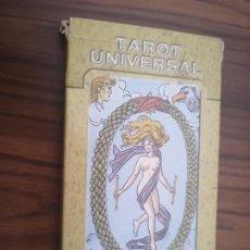 Barajas de cartas: TAROT UNIVERSAL. 22 ARCANOS MAYORES. EN CAJA. BUEN ESTADO.. Lote 195056923