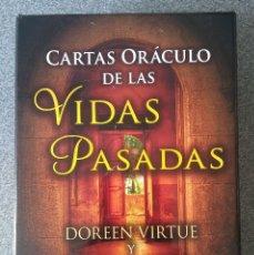 Barajas de cartas: CARTAS ORACULO DE LAS VIDAS PASADAS DOREEN VIRTUE BRIAN L. WEISS. Lote 195089366