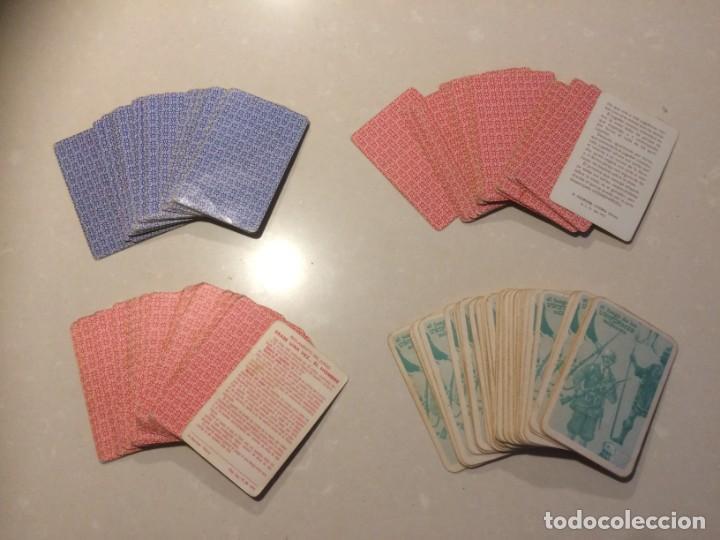 Barajas de cartas: Lote 4 barajas usadas: Parejas del mundo, Desfile Disney, Uniformes militares, Erase una vez el homb - Foto 2 - 195105747