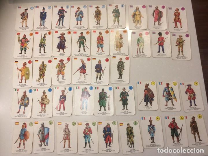 Barajas de cartas: Lote 4 barajas usadas: Parejas del mundo, Desfile Disney, Uniformes militares, Erase una vez el homb - Foto 3 - 195105747