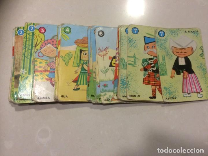 BARAJA DE CARTAS INCOMPLETA - EL JUEGO DE LAS RAZAS (Juguetes y Juegos - Cartas y Naipes - Barajas Infantiles)