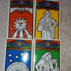 Barajas de cartas: TAROT TZIGAN TAROT DE LOS GITANOS DE TACHALAI DE 1984 RARO . Lote 195134942