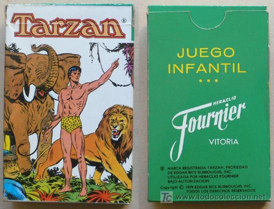 BARAJA FOURNIER - TARZAN - 32 CARTAS - VELL I BELL (Juguetes y Juegos - Cartas y Naipes - Barajas Infantiles)