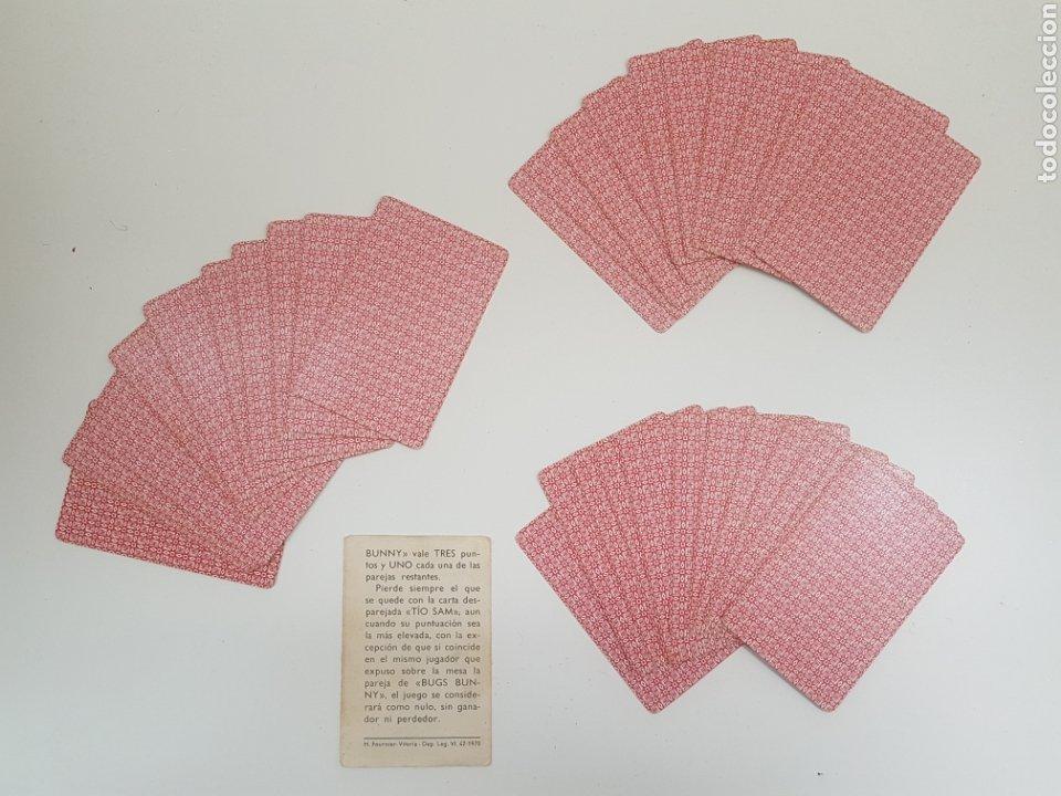 Barajas de cartas: Baraja de cartas infantil BUGS BUNNY - EL CONEJO DE LA SUERTE - Año 1970 - Foto 4 - 132787682