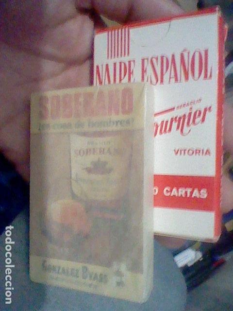 Barajas de cartas: SOBERANO BARAJA PROMOCIONAL BRANDY PRECINTADA GONZALEZ BYASS FOURNIER SPAIN - Foto 2 - 195212610