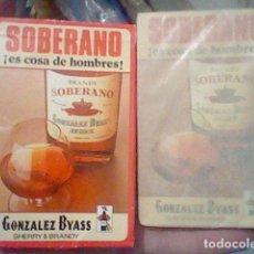 Barajas de cartas: SOBERANO BARAJA PROMOCIONAL BRANDY PRECINTADA GONZALEZ BYASS FOURNIER SPAIN. Lote 195212610