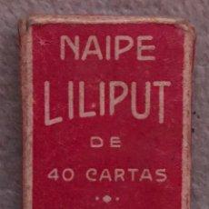 Barajas de cartas: BARAJA NAIPE LILIPUT - FOURNIER - 40 CARTAS CON SU CAJITA - AÑO 1960. Lote 195220138